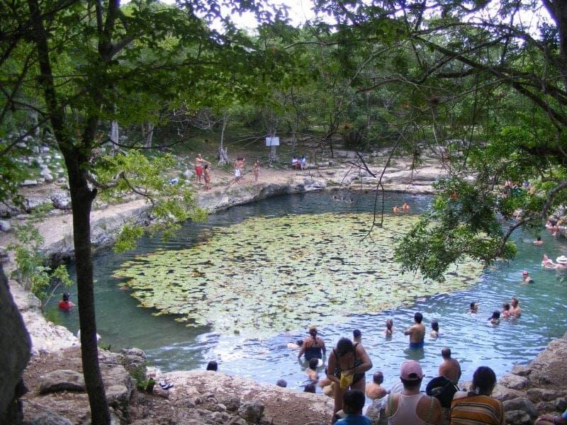 the cenote Xlakah