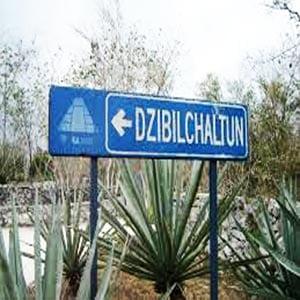 sign to Dzibilchaltún