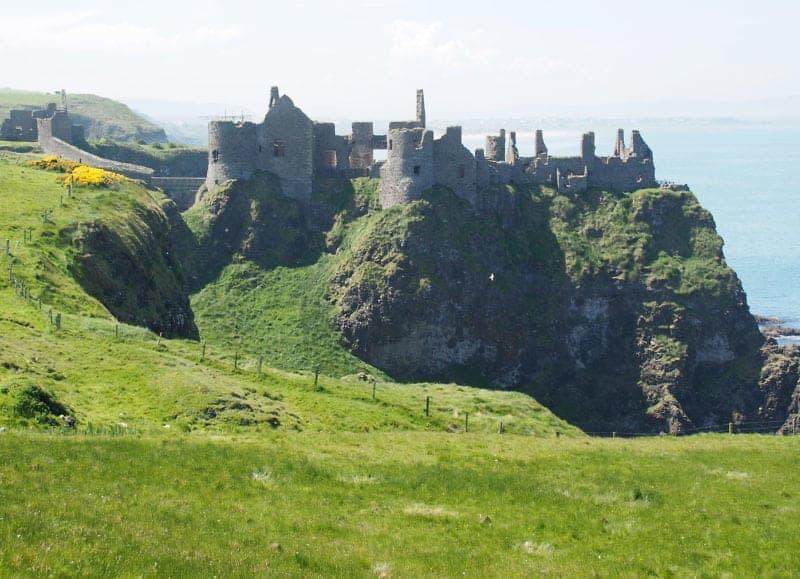 Dunluce Castle on the North Irish coast road