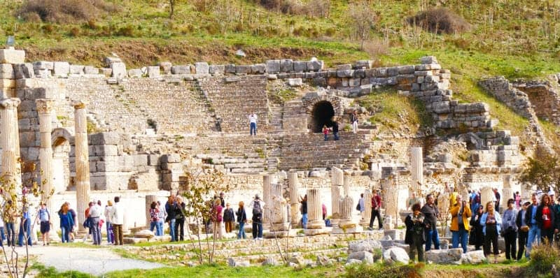 walking the marble road of ephesus you will pass by the odeon