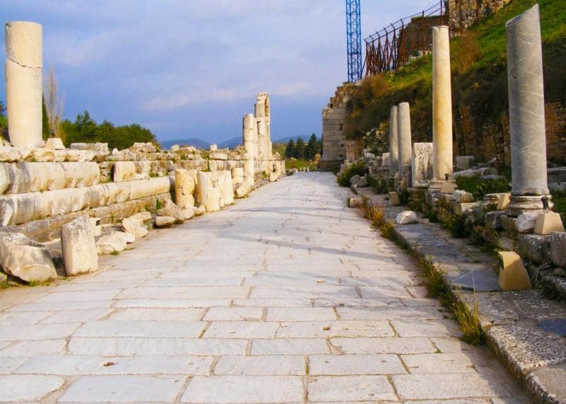 the white marble road of ephesus