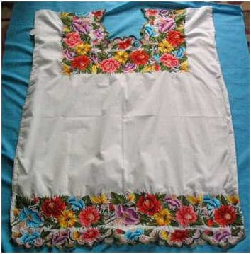 Mexican Embroidered Dresses Worn In The Yucatan Huipiles