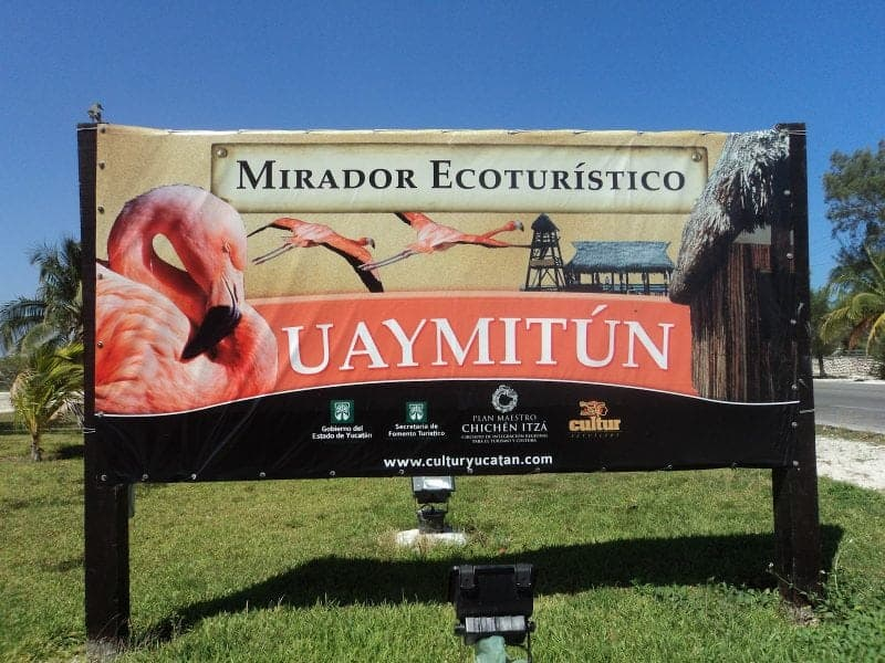 welcome to Uaymitun sign in Mexico