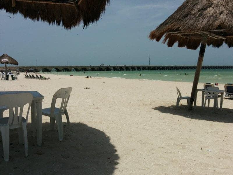 the beach on the gulf front side of Progreso