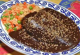 Regional Mexican food the Yucatan pave de Relleno or black turkey