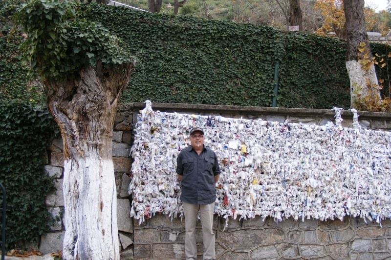 the wishing wall at the House of the Virgin Mary in Ephesus