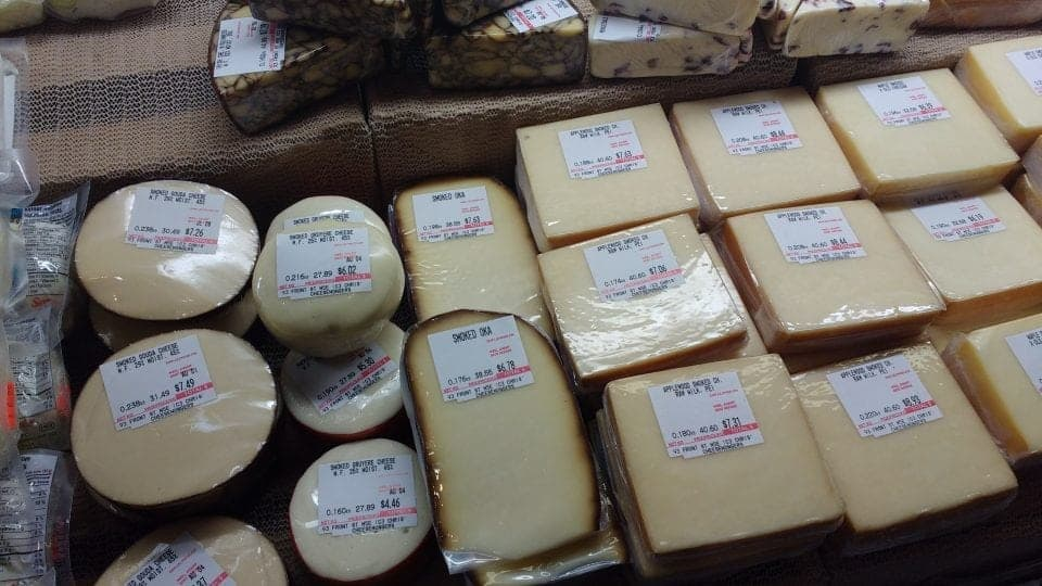St. Lawrence Market selection of cheese