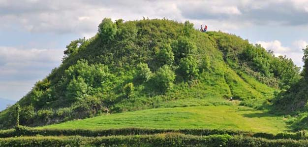 Irish fairies once lived here at Knockgrafton now just a mound of earth