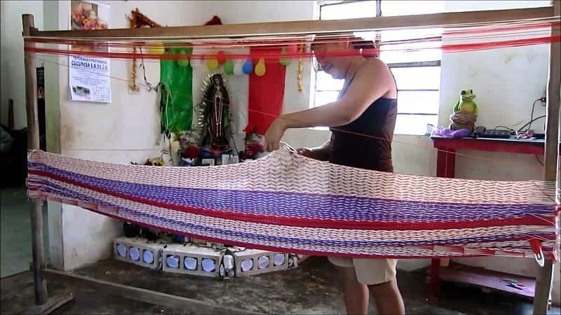 Hammocks made by hand in Mexico