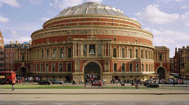 The Albert Hall home to many concerts and rock stars in Kensington