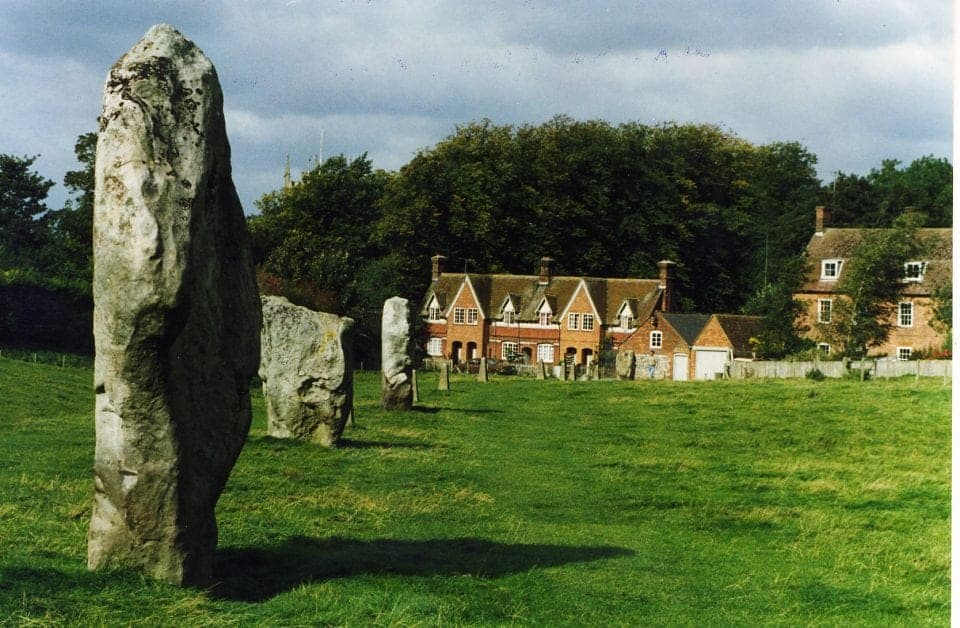 Avebury henge in England the stones have had a village built around them