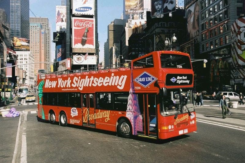 A hop on hop off bus in New York