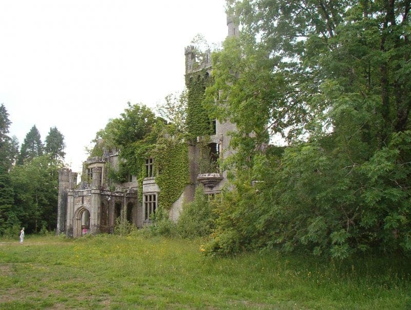 the ruins of the Solis Lough Eske Castle Hotel