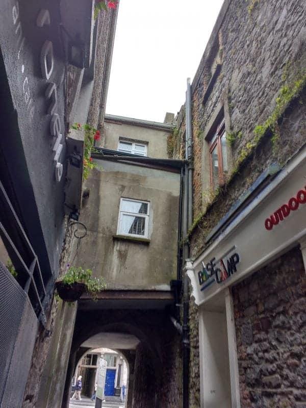 Butter Slip Alley is a tiny dark walkway that connects the High Street  to the Low Street, now known as St Kieran's Street