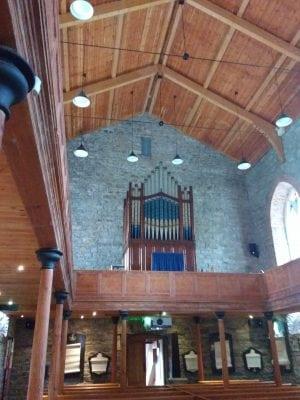 interior of church in sligo where yeats is buried
