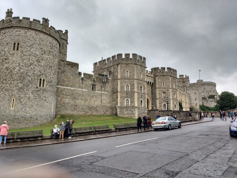 the Windsor Castle exterior walls