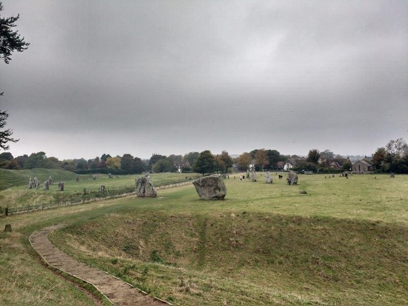 the inner stone circle at Avebury Henge