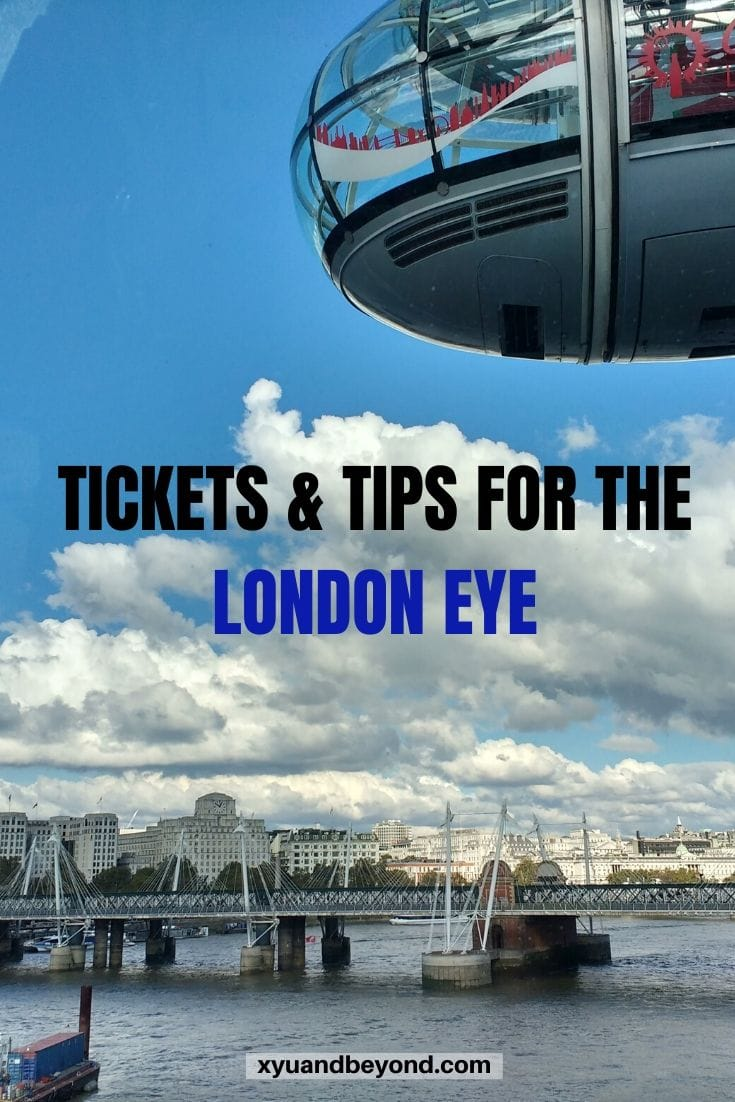 Getting those London Eye tickets and tips
