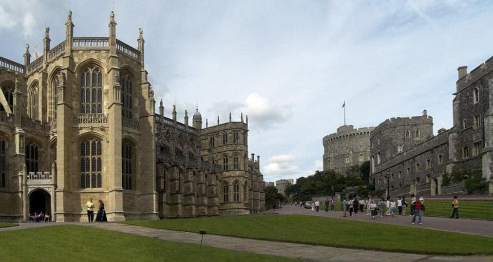 the lower ward of Windsor Castle