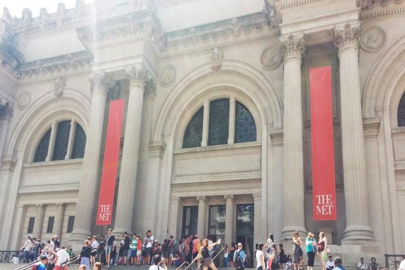 The Exterior of the Met without a doubt one of the best places to visit in New York