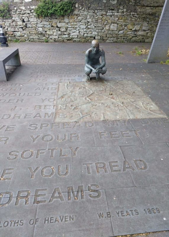 Yeat's poem cast near the gravesite of the famous poet who wanted to be buried in Sligo Ireland