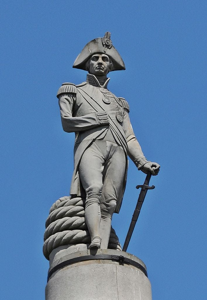 Nelson on top of Nelson's Column in Trafalgar Square