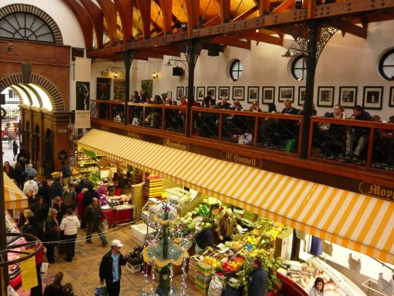 view of the floor of the English Market in Cork