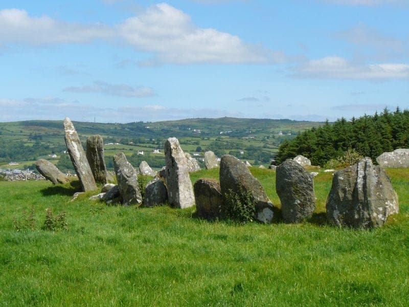 Wild Atlantic Way Donegal, the Beltany stone circle