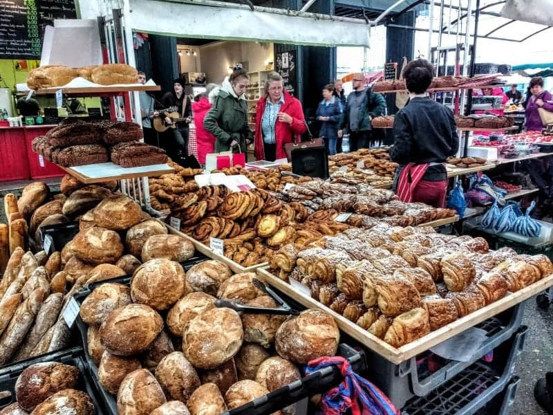 English market in Cork bread stalls