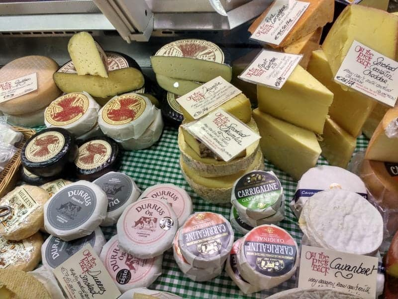 just part of a vast selection of Cheeses in the English Market