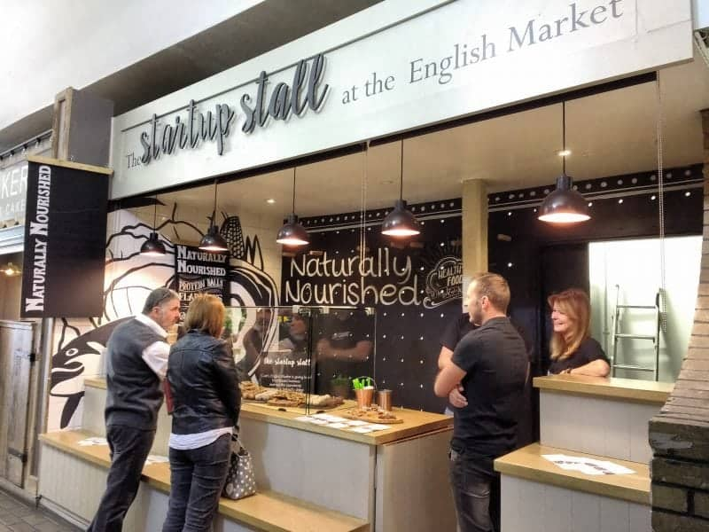 the community space in the English Market set up for new business trials