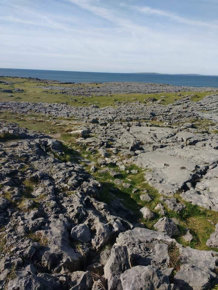 The Burren to the Atlantic ocean on the WAW