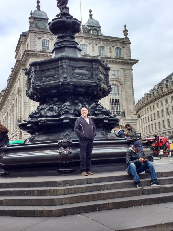 Piccadilly Circus London on the way to see the Trafalgar Square Lions