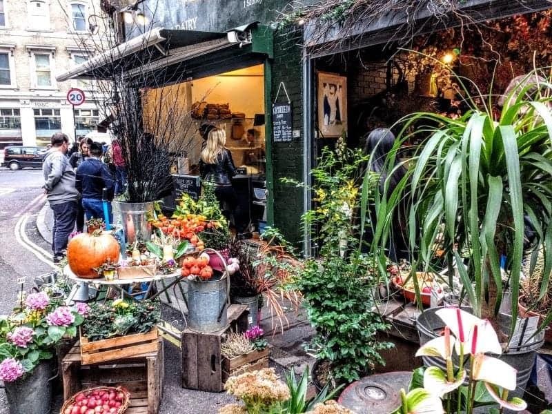 Borough market flower shop