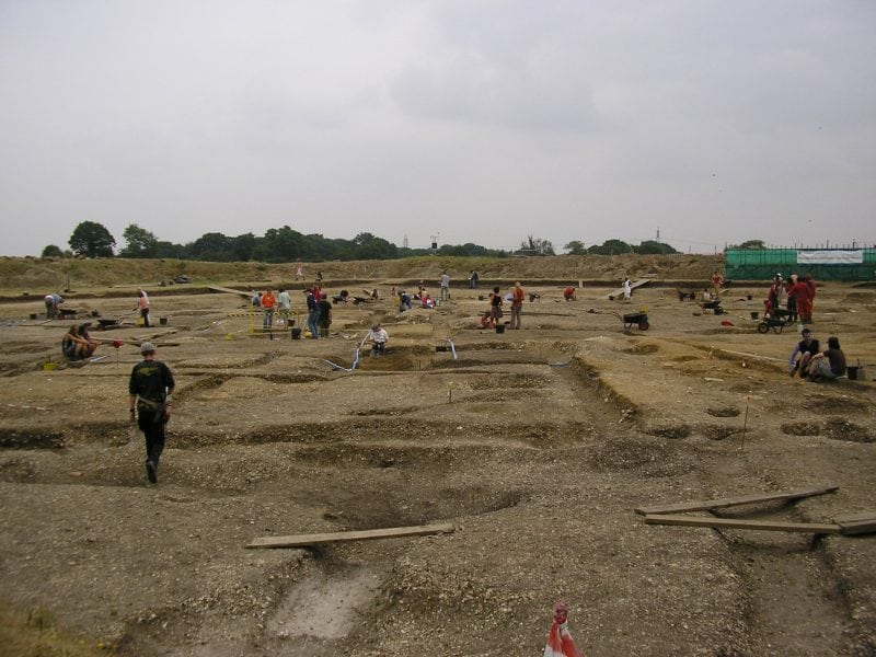 Silchester Roman Ruins university dig