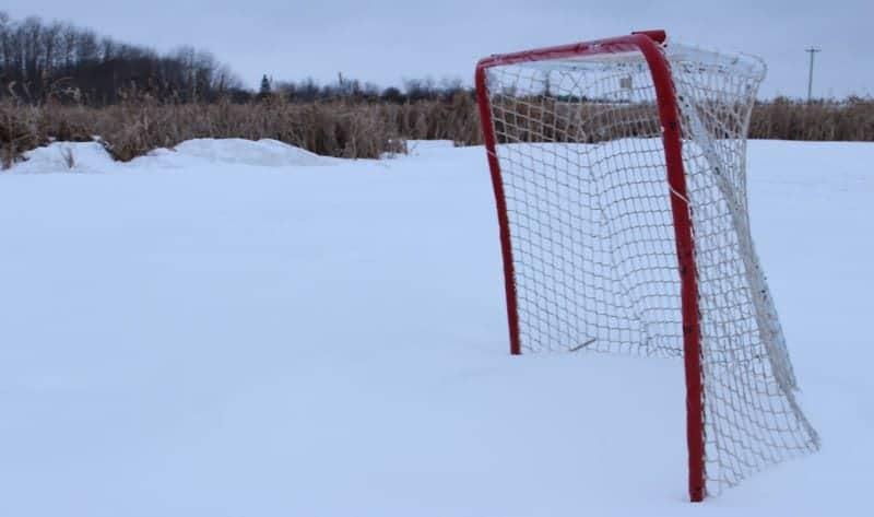 canada snow ice hockey net
