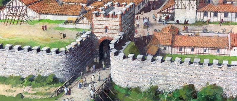 portrayal of the Roman city at Silchester