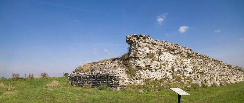 remains of a large wall at Silchester