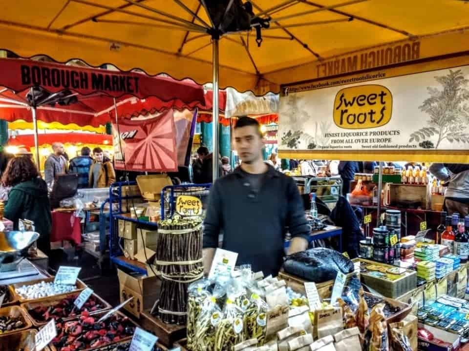 a great guide to Borough Market for foodies, some of the stalls tucked underneath the bridge