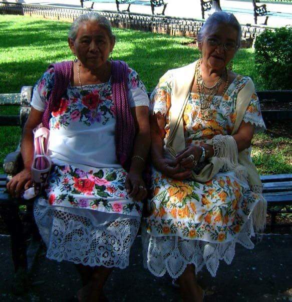 a couple of Mexican ladies at the market in Merida