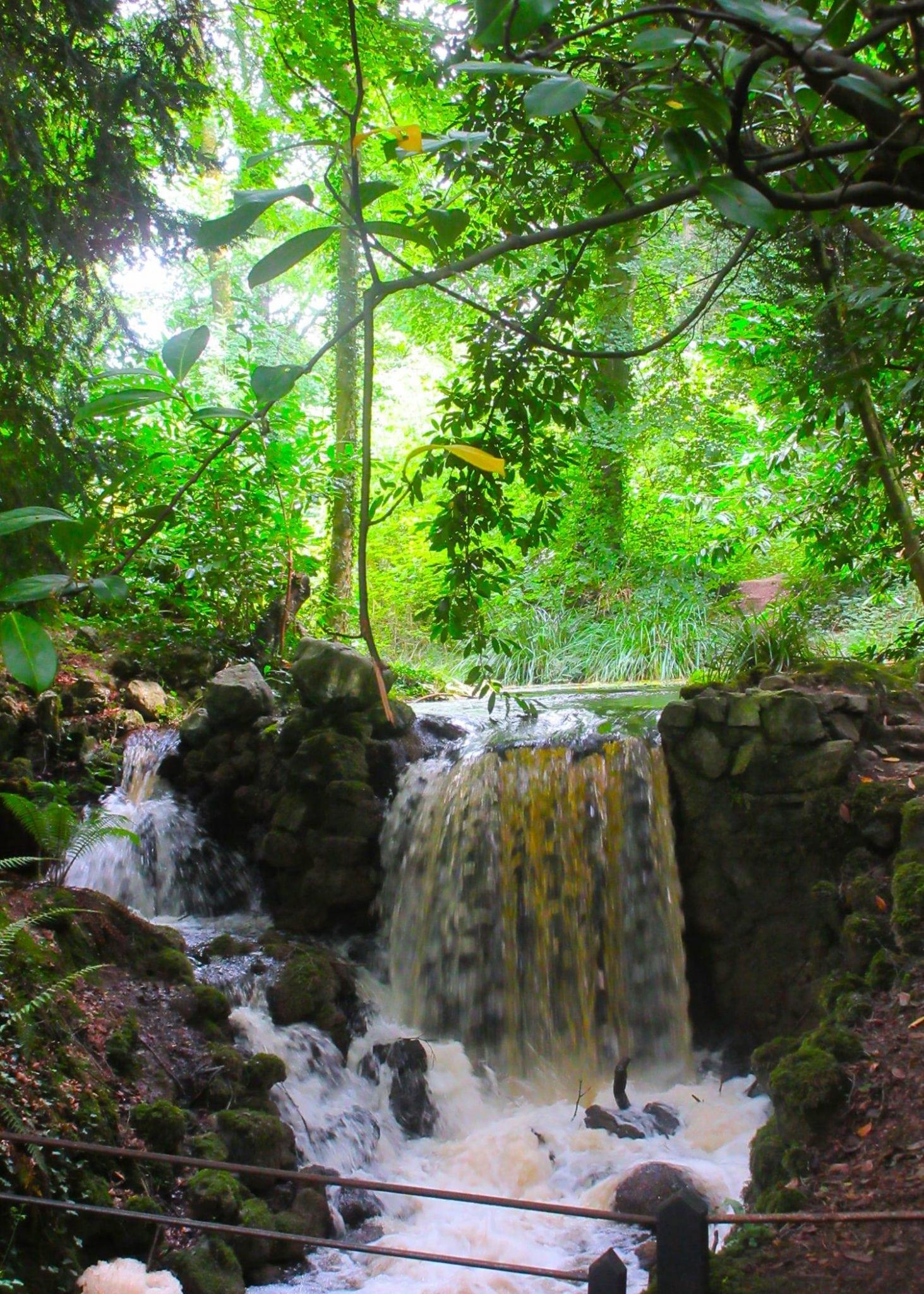 Waterfall at Birr Castle Gardens Ireland