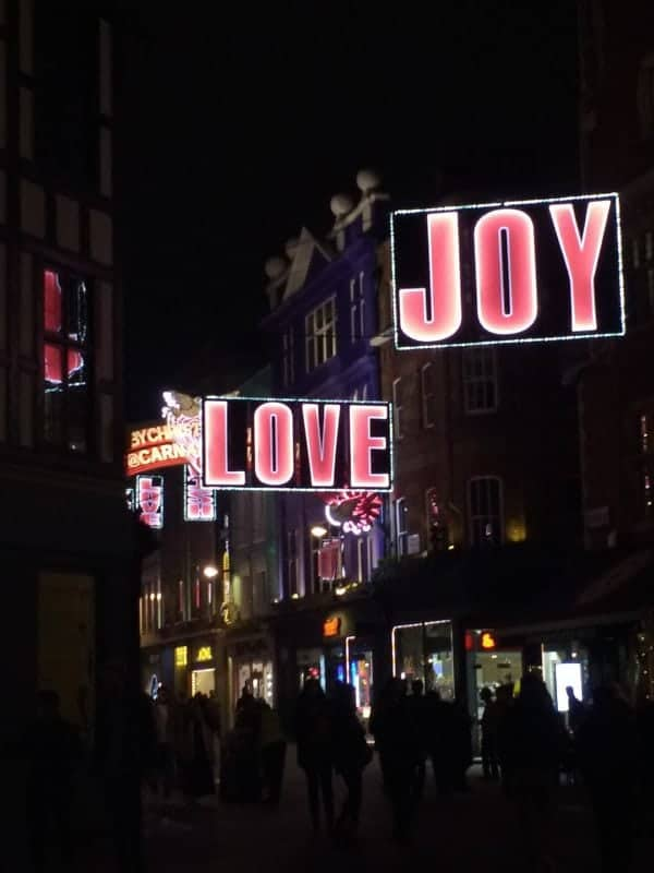 Carnaby St the 12 days of Christmas London