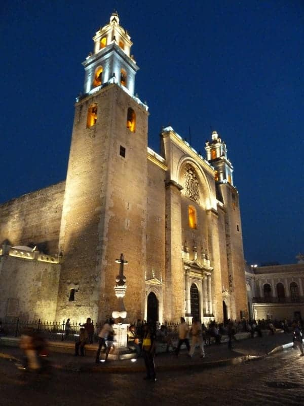 the Cathedral in Merida living the expat life in the Yucatan