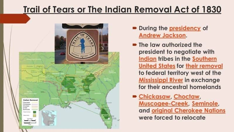 Indian Removal Act of 1830 - The Irish Famine the Choctaw and The Trail of Tears