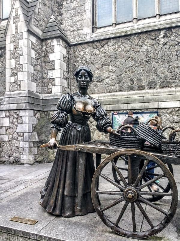 Musical tours of Dublin the iconic statue of Molly Malone and the Cockles and Mussels anthem of Dublin