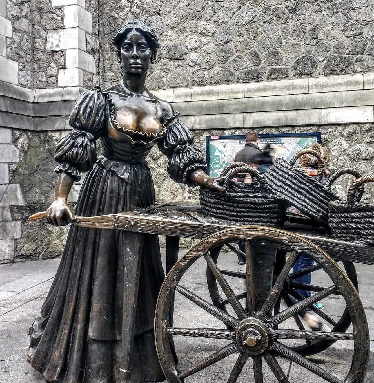 Molly Malone statue Dublion