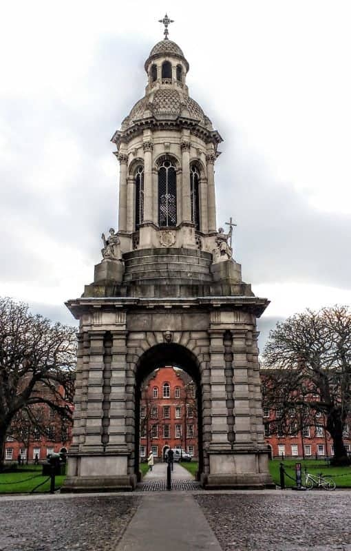 Trinity College courtyard in 15 Dublin Don'ts