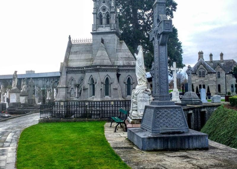 one of the many memorials in Dublin's Glasnevin cemetery