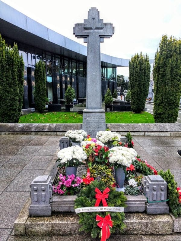Michael Collins memorial in Dublin's Glasnevin Cemetery