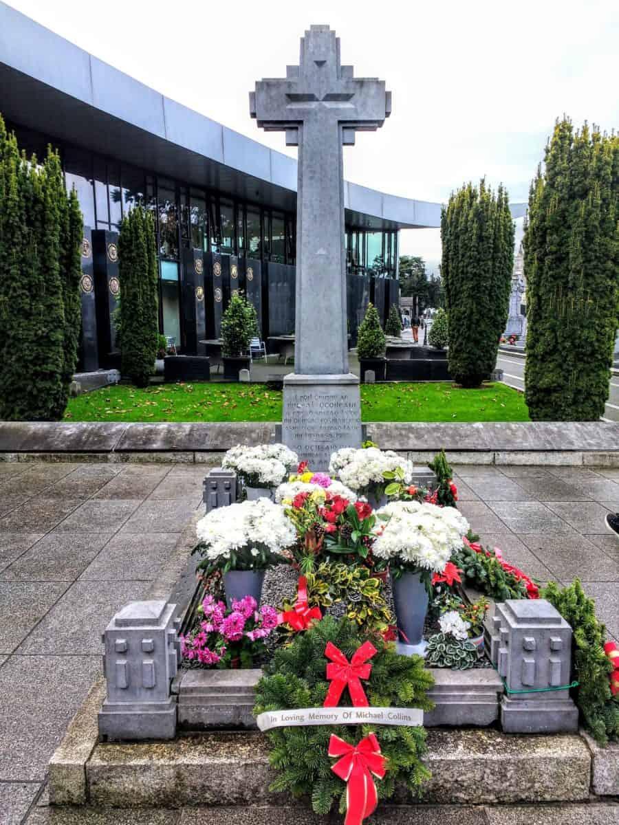 Michael Collins memorial at Dublin's Glasnevin Cemetery